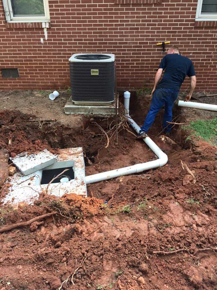 new septic line installation by Donavens Septic Service